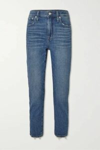 Madewell - Cropped Distressed High-rise Slim-leg Jeans - Light denim