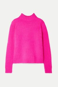 Tibi - Cozette Neon Alpaca-blend Sweater - Fuchsia