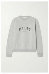 SAINT LAURENT - Malibu Printed Cotton-blend Jersey Sweater - Gray