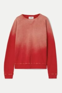 RE/DONE - 80s Cotton-terry Sweatshirt - Red