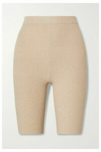 Nanushka - Tilo Ribbed Cotton-blend Terry Shorts - Beige