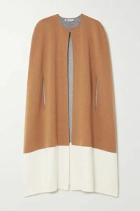Johnstons of Elgin - Two-tone Stretch-cashmere Cape - Camel
