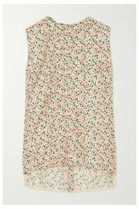 Marni - Floral-print Silk-twill Top - Ivory