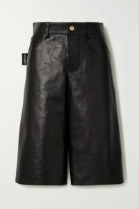 Bottega Veneta - Leather Shorts - Black