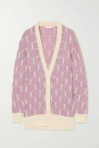 See By Chloé - Jacquard-knit Cardigan - Lilac