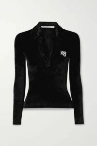 Alexander Wang - Crystal-embellished Chenille Sweater - Black
