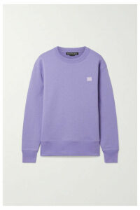 Acne Studios - Fairview Face Appliquéd Brushed Cotton-jersey Sweatshirt - Lilac