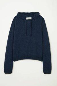 Lanvin - Alpaca, Cashmere And Silk-blend Hoodie - Navy