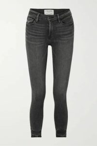 FRAME - Le High Cropped Skinny Jeans - Dark gray