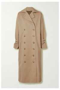Totême - Pisa Double-breasted Cotton-blend Trench Coat - Green