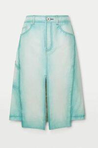 Lanvin - Asymmetric Leather Skirt - Blue