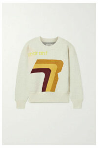 Isabel Marant Étoile - Klero Intarsia Cotton-blend Sweater - Ecru
