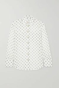 Balmain - Polka-dot Silk-georgette Blouse - White