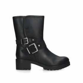 Carvela Solitary - Black Buckle Detail Ankle Boots