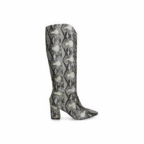 KG Kurt Geiger Sunny - Snake Print Block Heel Knee High Boots