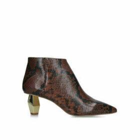 Kurt Geiger London Della - Snake Print Ankle Boots
