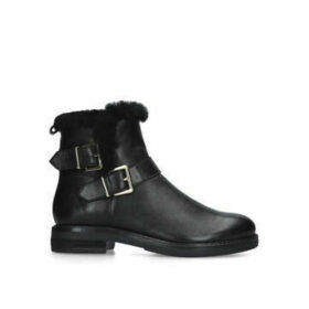 Nine West Cloud - Black Buckle Detail Biker Boots