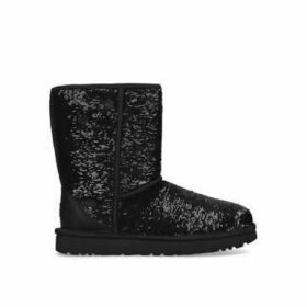 Ugg Classic Short Cosmos - Black Sequinned Boots