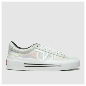Vans Grey & Silver Sid New Issue Trainers