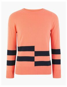 Autograph Pure Cashmere Striped Jumper