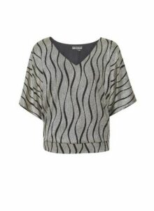 Womens **Billie & Blossom Tiger Print Top- Gold, Gold