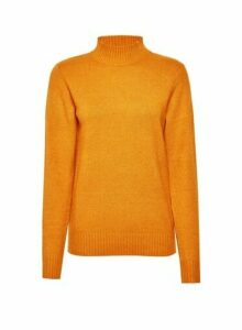 Womens Vila Yellow High Neck Knittd Jumper - Red, Red