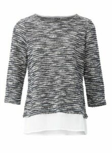 Womens Izabel London Grey Casual Knitted Top, Grey