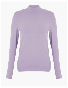 M&S Collection Cotton Rich Fitted Top