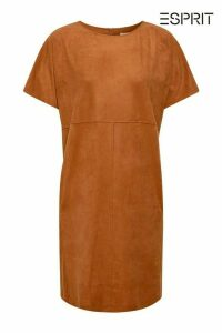 Womens Esprit Brown Stretch Dress In Faux Suede -  Brown