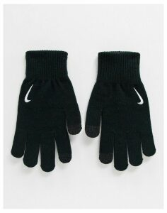 Nike Running knit tech gloves in black