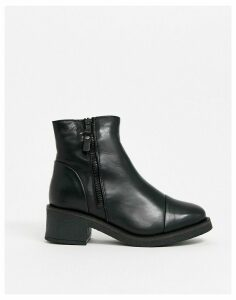 ALDO leather block heel boots in black