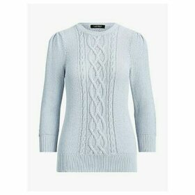 Lauren Ralph Lauren Tishari Cable Knit Jumper, Toile Blue