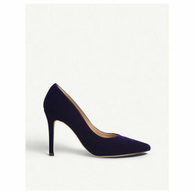 Fern pointed suede courts
