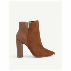 Inala suede and leather ankle boots