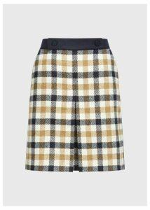 Genevieve Wool Skirt Bamboo Multi