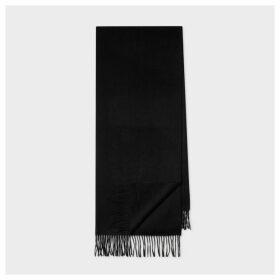 Black Large Cashmere Scarf