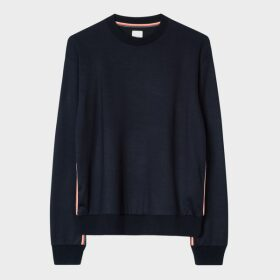 Women's Navy 'Artist Stripe' Trim Sweatshirt