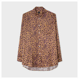 Women's Tan 'Cheetah' Print Long Shirt