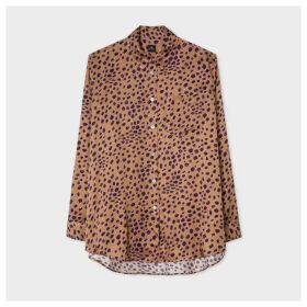Women's Tan 'Cheetah' Print Long Shirt