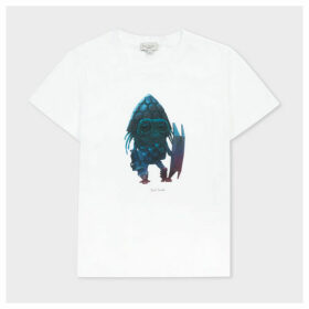 Paul Smith For Men In Black: International - 8+ Years 'Alien' Print T-Shirt