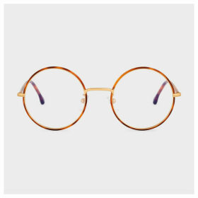 Paul Smith Honey Turtle And Gold 'Alford' Spectacles