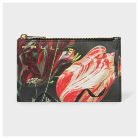 Women's 'New Masters' Print Leather Zip Pouch