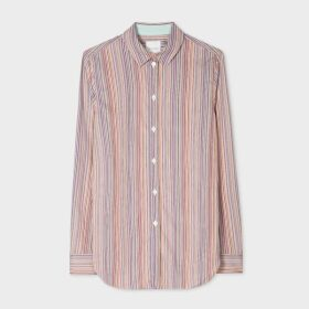 Women's Slim-Fit 'Signature Stripe' Cotton Shirt