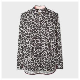 Women's Black And White 'Leopard' Print Shirt