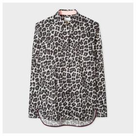 Women's Black And White 'Leopard' Print Shirt