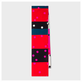 Women's Multi-Coloured Polka Dot Wool Scarf
