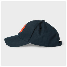 Women's Navy 'Sun' Embroidery Cotton Baseball Cap