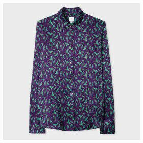 Women's Purple 'Parrot' Print Shirt
