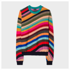 Women's 'Swirl' Intarsia Merino Wool Sweater