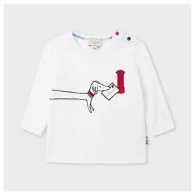 Babies White 'Paul's Letter' Print Long-Sleeve T-Shirt